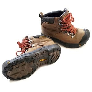 Keen   Waterproof Lace Up Leather Hiking Boots